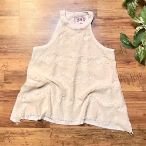 Lace Halter Tank Top